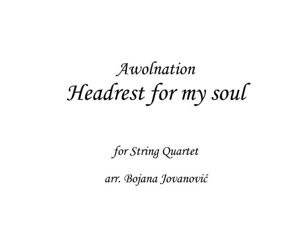 Headrest for my soul Awolnation Sheet music