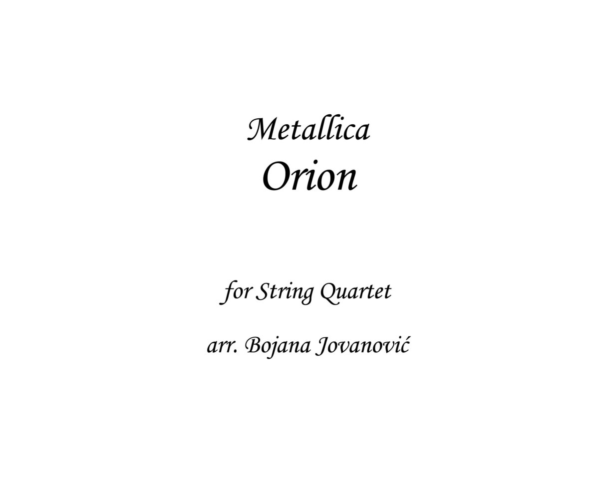 Orion Metallica Sheet music