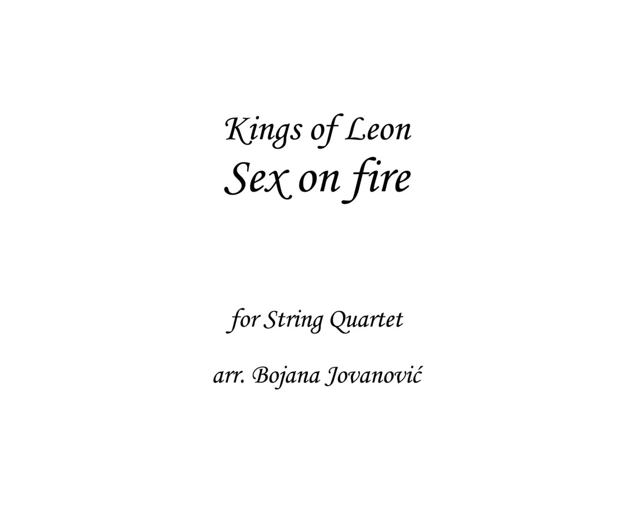 Sex on fire Kings of Leon Sheet music