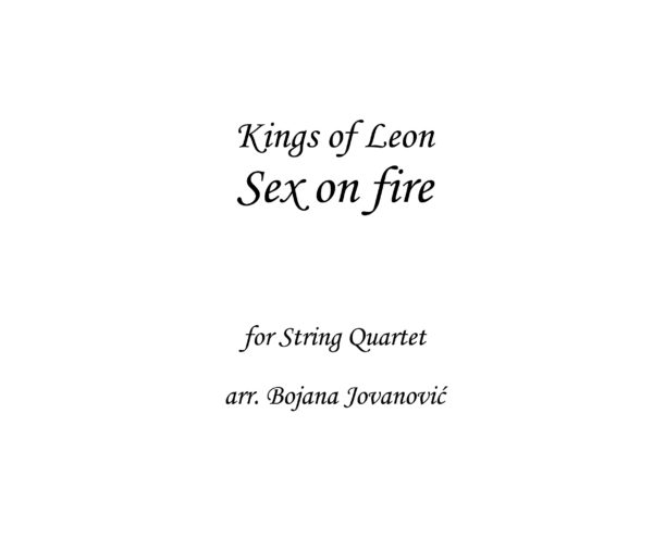 Sex on fire Kings of Leon Sheet music