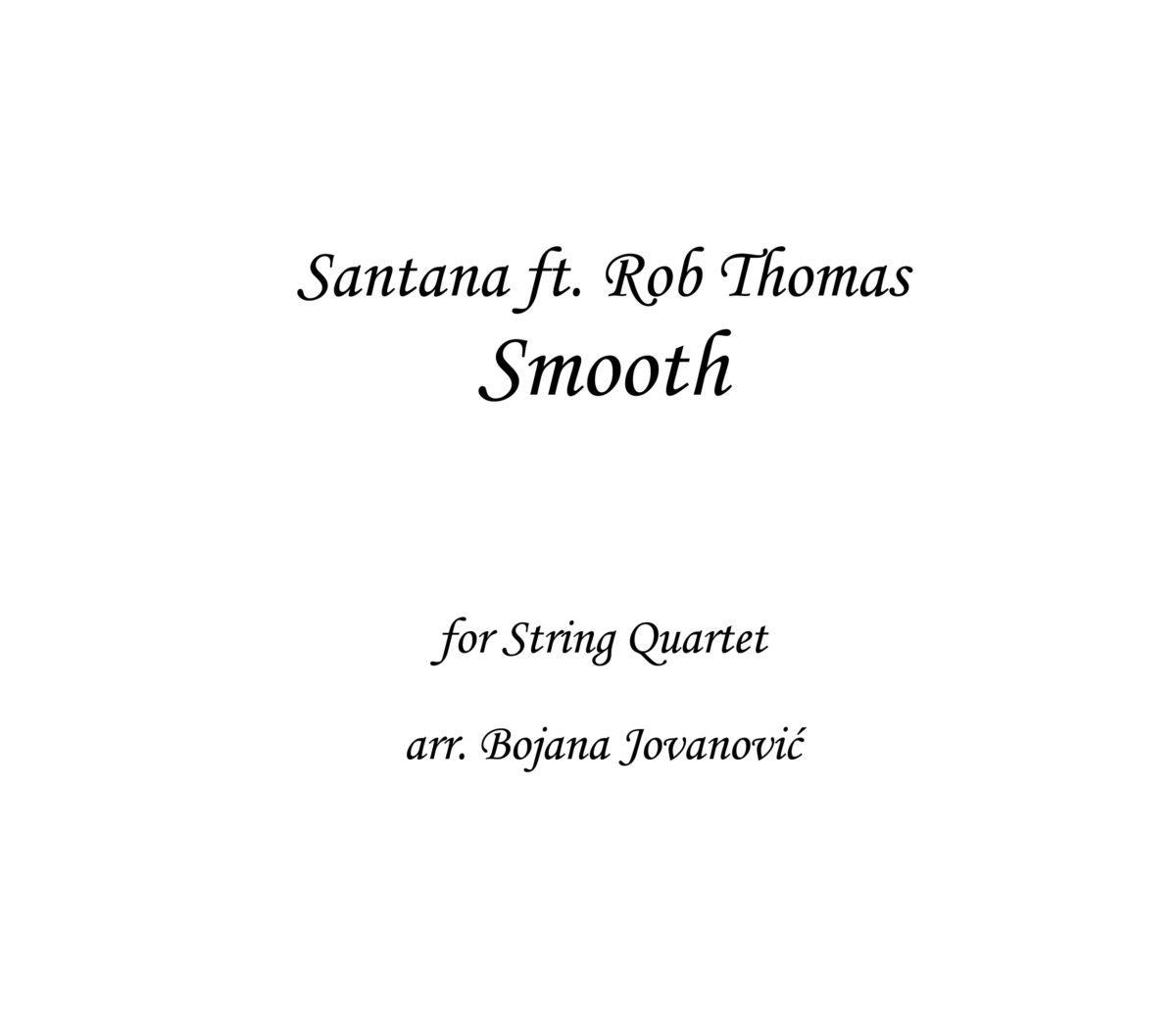Smooth Santana Sheet music