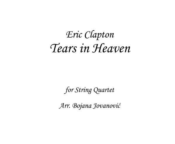 Tears in Heaven Eric Clapton Sheet music