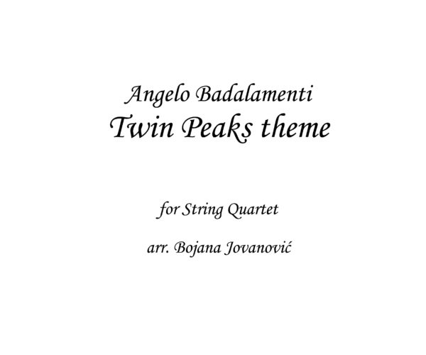 Twin Peaks theme Sheet music