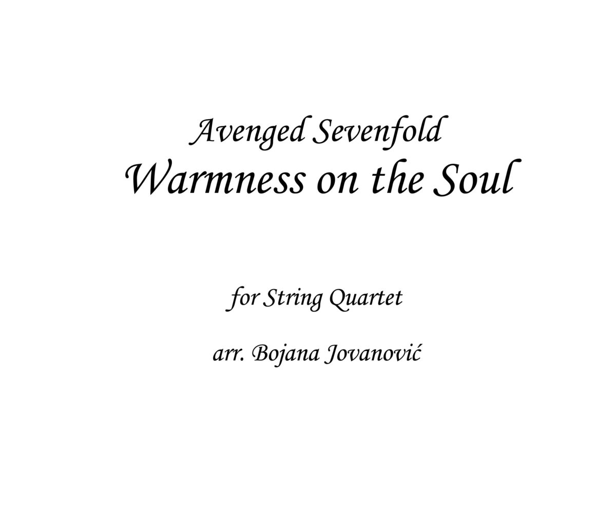 Warmness on the Soul Avenged Sevenfold Sheet music