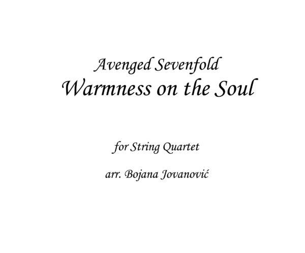 Warmness on the Soul Avenged Sevenfold Sheet music