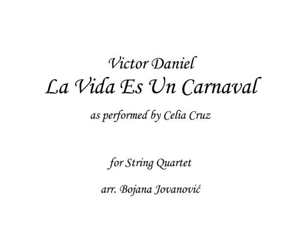 La Vida Es Un Carnaval Sheet music