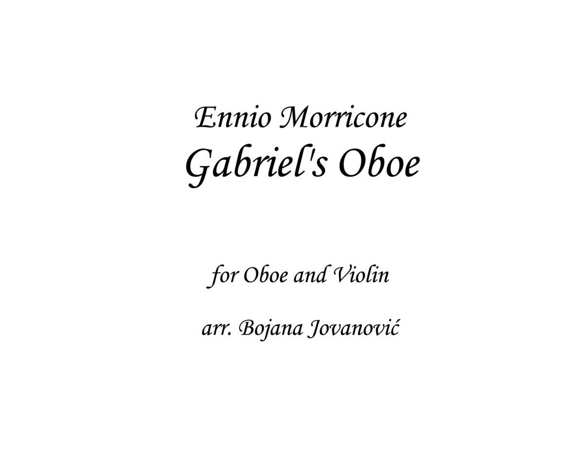 Gabriel's Oboe Sheet music