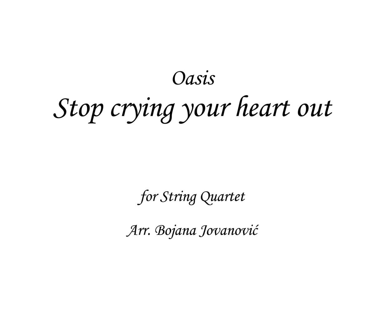 Stop crying your heart out Oasis Sheet music