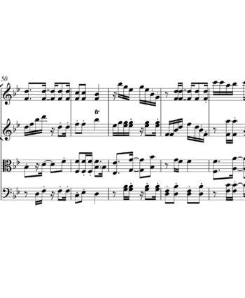 Littel Mermaid Under The Sea Sheet Music for String Quartet