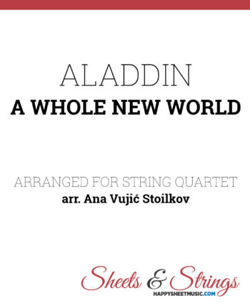 Aladdin - A whole new world Sheet Music for String Quartet