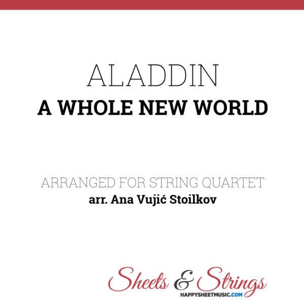 Aladdin - A whole new world Sheet Music for String Quartet