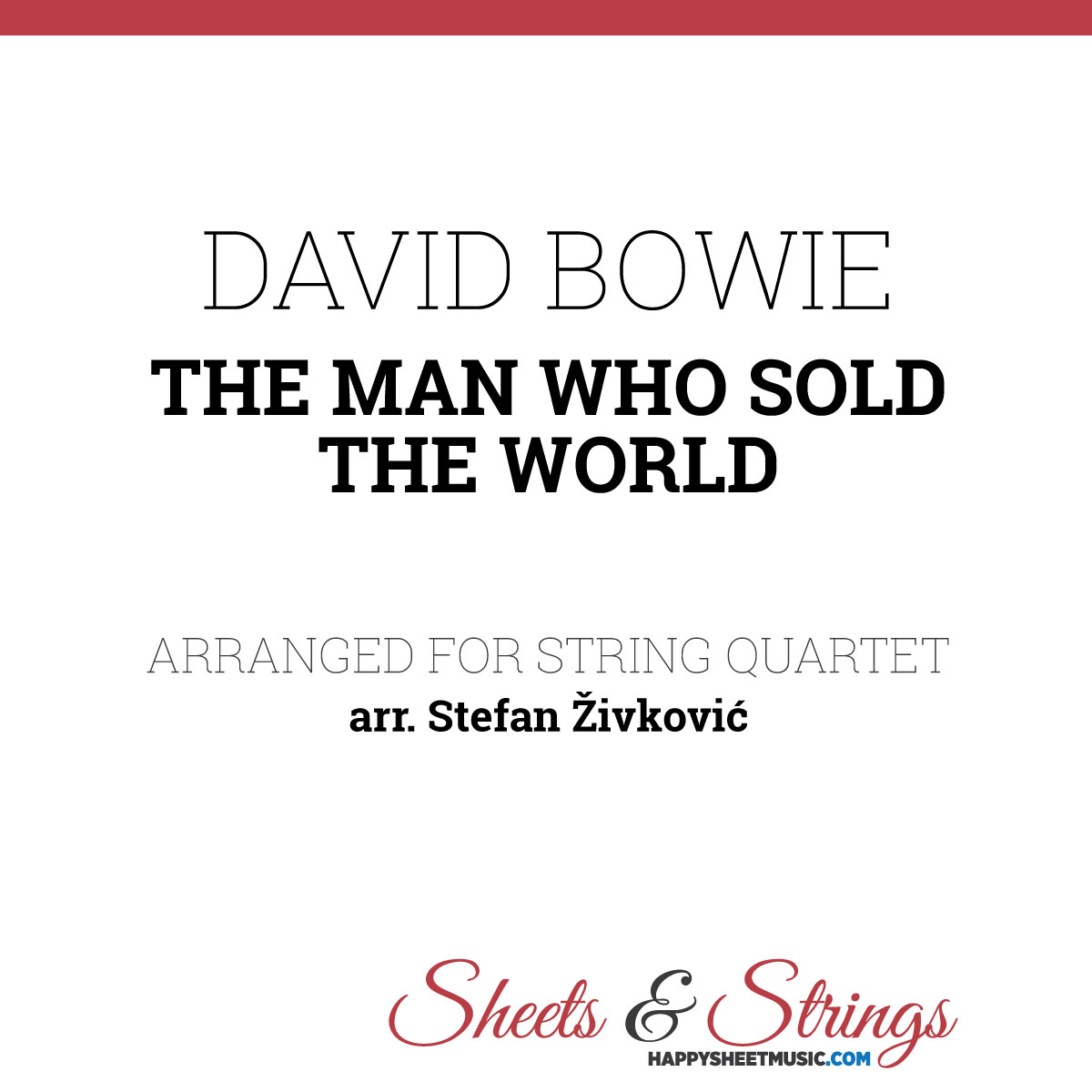 David Bowie - The Man Who Sold the World Sheet Music for ...