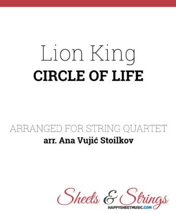 Lion King - Circle of life Sheet Music for String Quartet