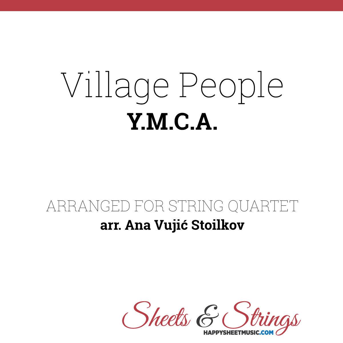 Village People - Y.M.C.A. Sheet Music for String Quartet