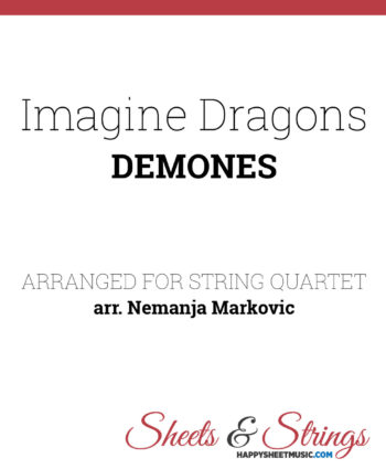 Imagine Dragons Demons Sheet Music for String Quartet
