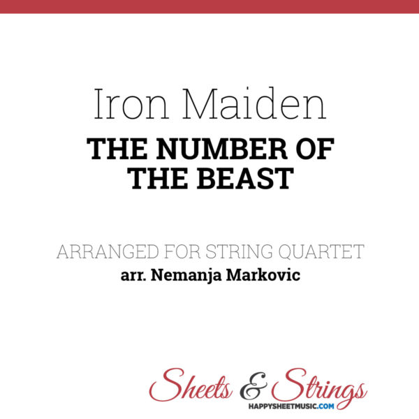 Iron Maiden - The Number ofthe beast sheet music for string quartet