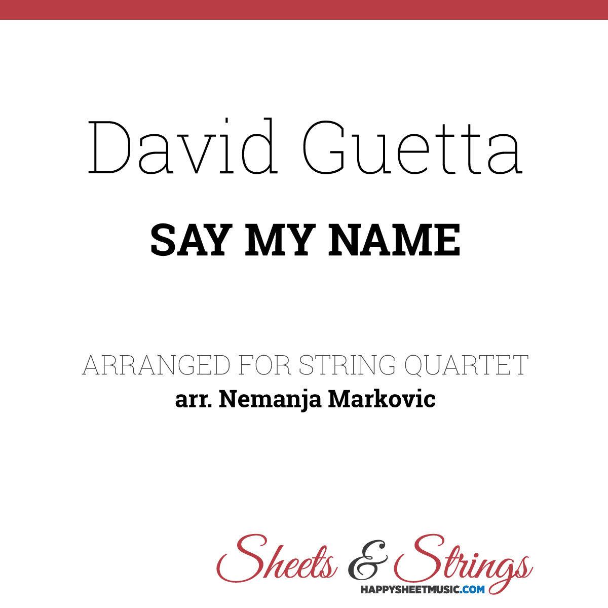 David Guetta ft. J Balvin and Bebe Rexha - Sheet Music for String Quartet - Music Arrangement for String Quartet