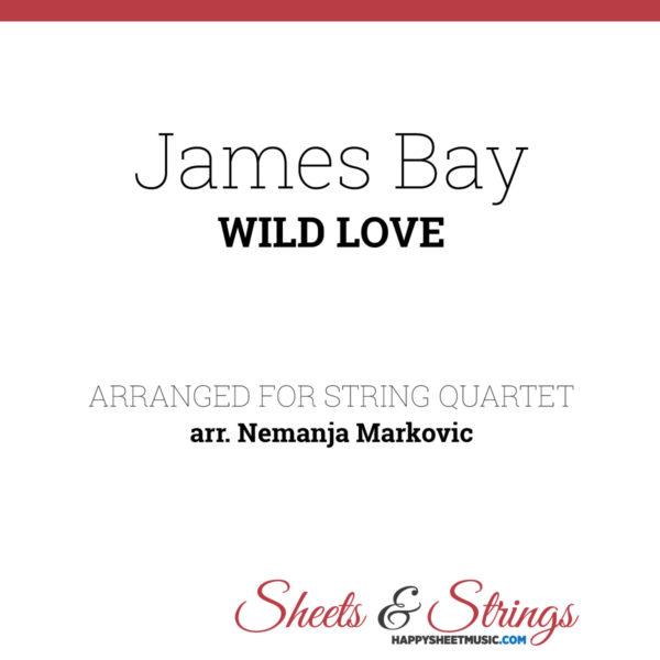 James Bay - Wild Love - Sheet Music for String Quartet - Music Arrangement for String Quartet