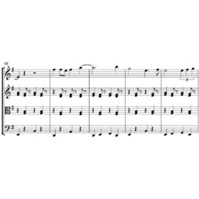 Leonard Cohen - Dance Me To The End of Love - Sheet Music for String Quartet - Music Arrangement for String Quartet