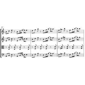 Django Reinhardt ft. Stephane Grappelli - Minor Swing - Sheet Music for String Quartet - Music Arrangement for String Quartet