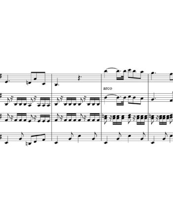 The Beatles - Norwegian Wood - Sheet Music for String Quartet - Music Arrangement for String Quartet