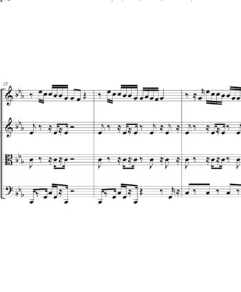 DJ Khaled and Rihanna - Wild Thoughts - Sheet Music for String Quartet - Music Arrangement for String Quartet